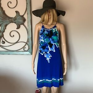 BNWOT! INC. blue summer dress! Gorgeous!!